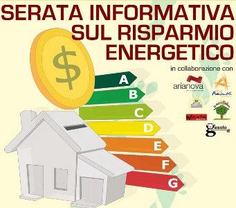 Serata informativa sul Risparmio Energetico