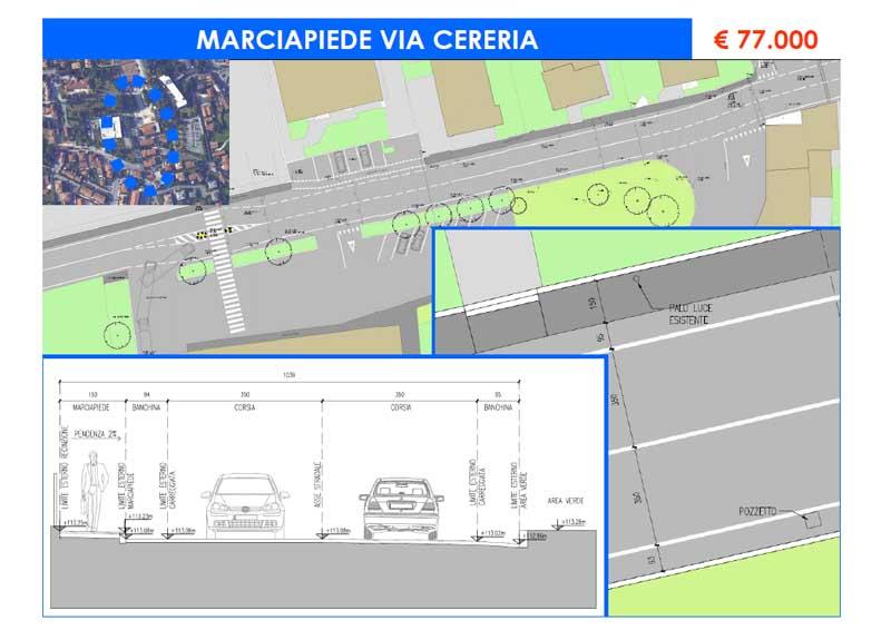 Marciapiede Via Cereria