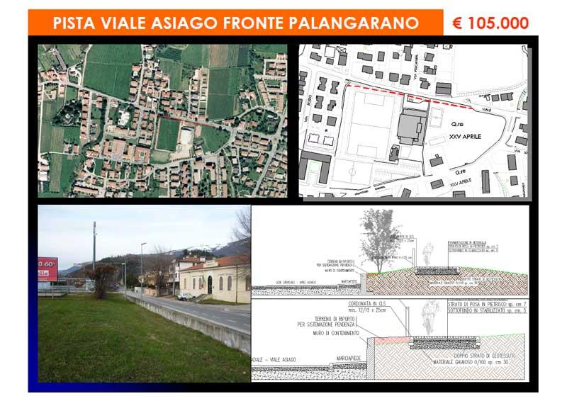 """Pista ciclabile – """"Viale Asiago fronte Palangarano"""""""