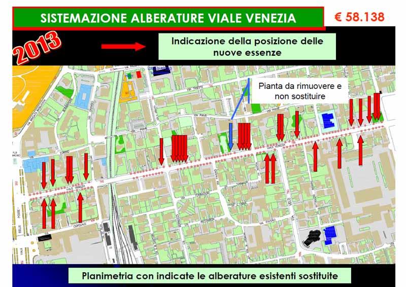 """Verde – Intervento """"Sistemazione alberature Viale Venezia"""""""