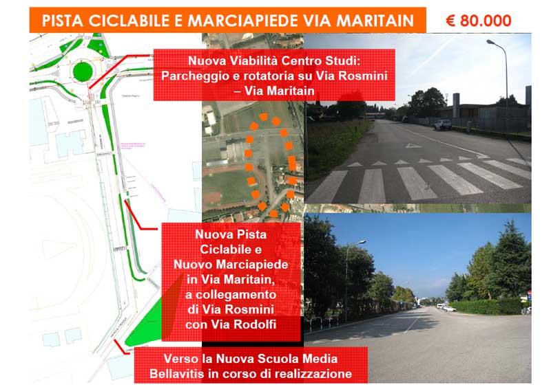 """Pista ciclabile – """"Via Maritain"""""""