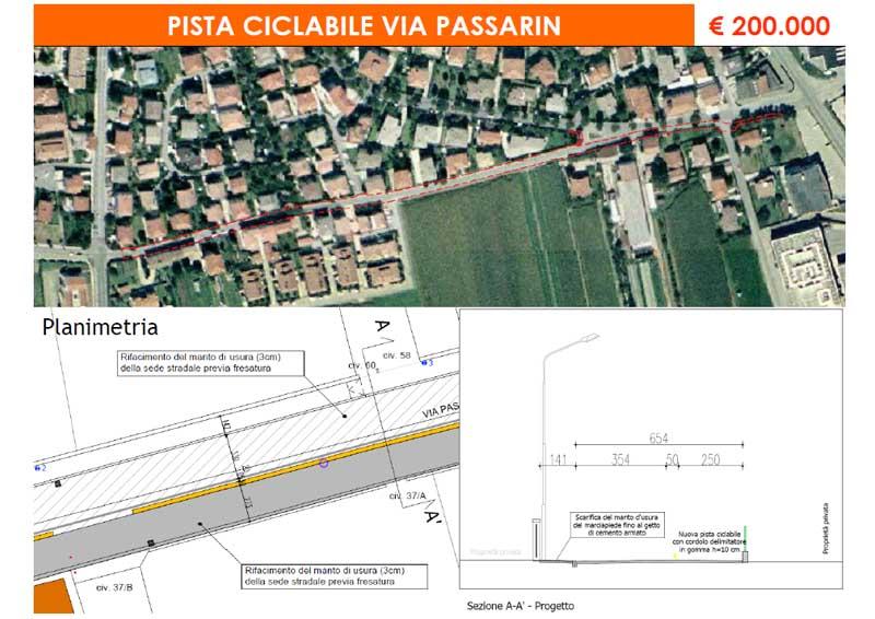 """Pista ciclabile – """"Via Passarin"""""""