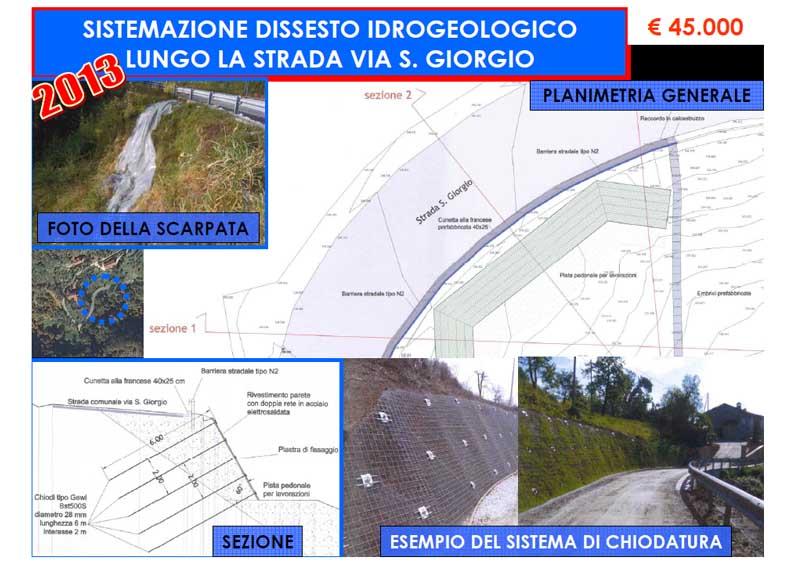 Sistemazione dissesto idrogeologico Via S. Giorgio