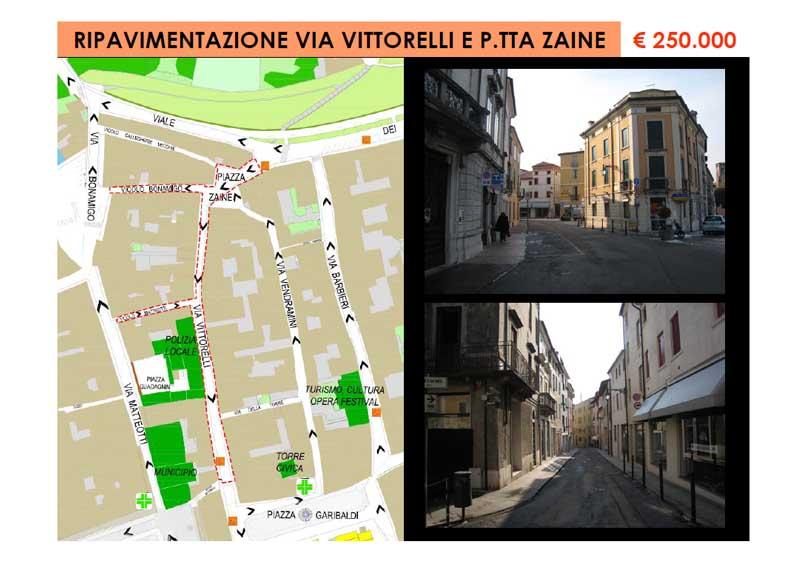 Ripavimentazione Via Vittorelli e Piazzetta Zaine