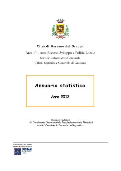 Annuario statistico 2012