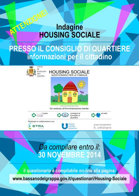 Housing sociale: un questionario per capire le esigenze dei bassanesi