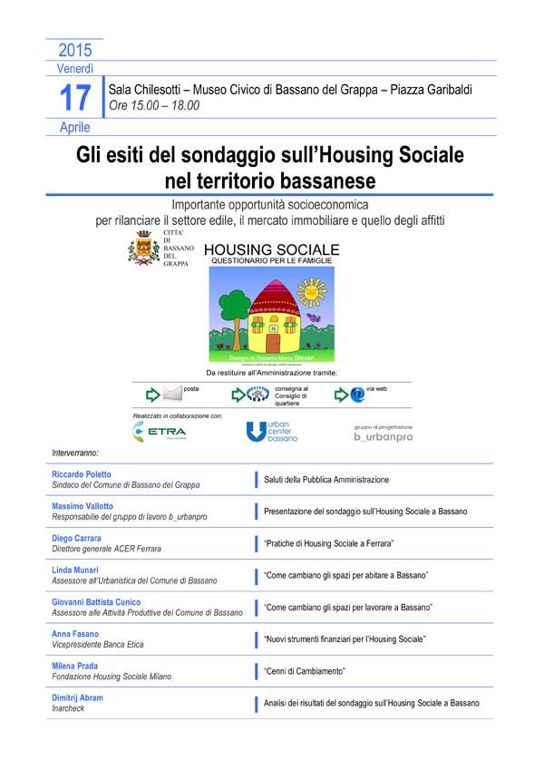 Gli esiti del sondaggio sull'Housing Sociale nel territorio bassanese