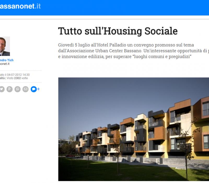 Tutto sull'Housing Sociale – Bassanonet