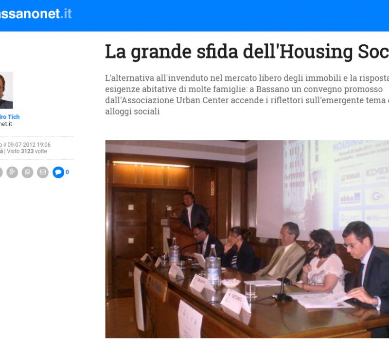 La grande sfida dell'Housing Sociale – Bassanonet