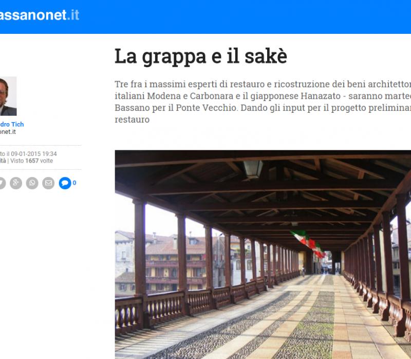 La grappa e il sakè – Bassanonet
