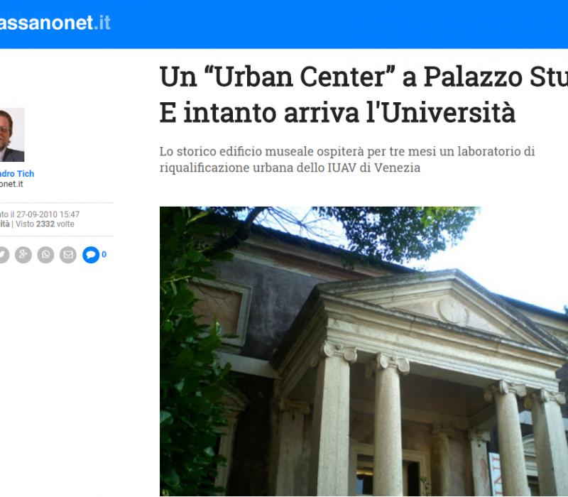 """Un """"Urban Center"""" a Palazzo Sturm. E intanto arriva l'Università – Bassanonet"""