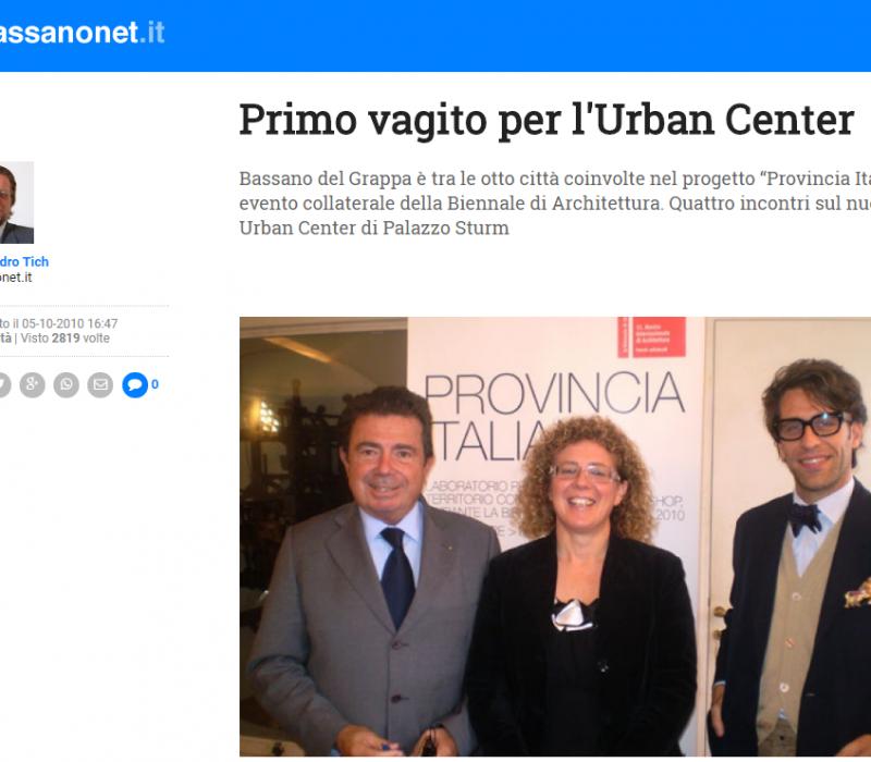 Primo vagito per l'Urban Center – Bassanonet