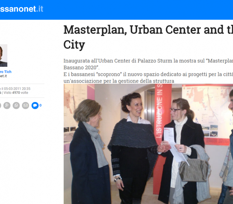 Masterplan, Urban Center and the City – Bassanonet