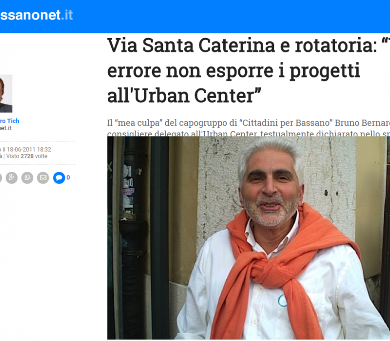 "Via Santa Caterina e rotatoria: ""Un errore non esporre i progetti all'Urban Center"" – Bassanonet"