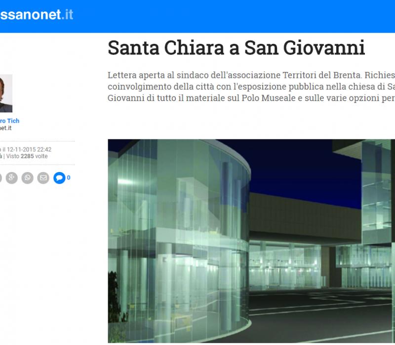 Santa Chiara a San Giovanni – Bassanonet