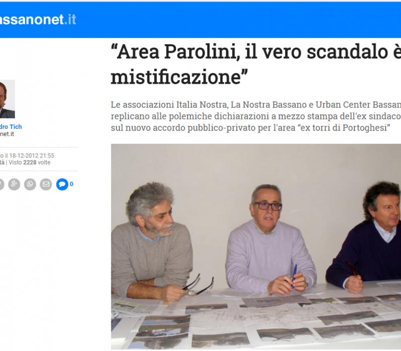 """""""Area Parolini, il vero scandalo è la mistificazione"""" – Bassanonet"""