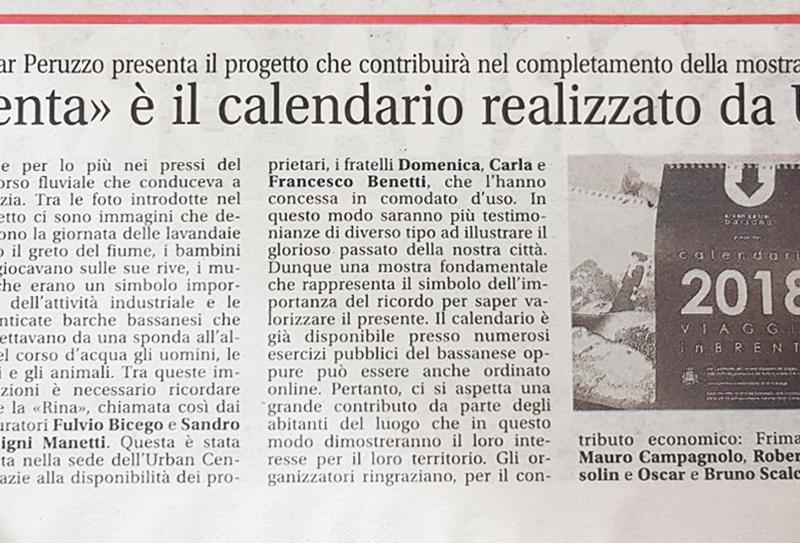 """""""Viaggio in Brenta"""" è il calendario realizzato da Urban Center"""