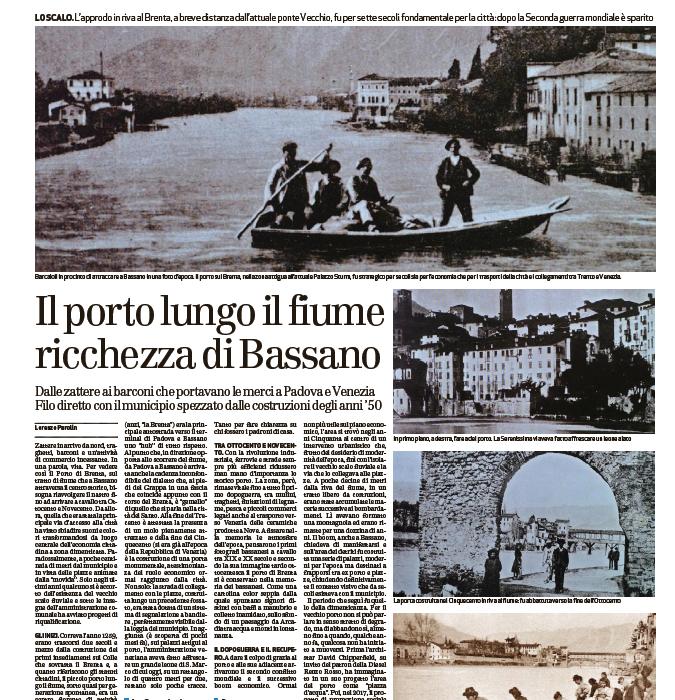 Il porto lungo il fiume ricchezza di Bassano | Il Giornale di Vicenza